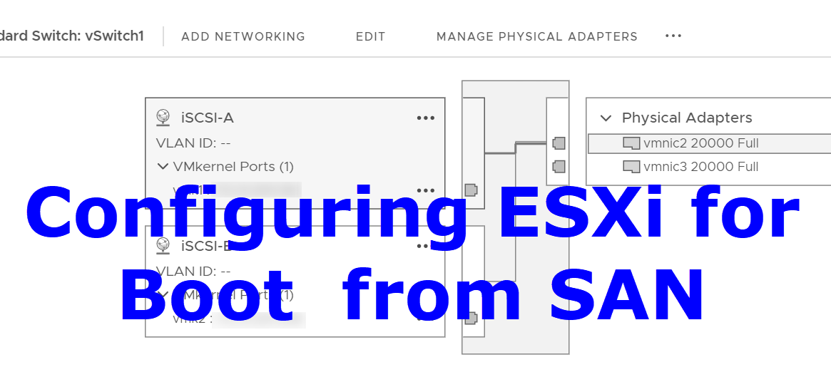 Configuring ESXi after Boot from SAN