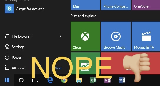 NOPE: Roaming Start Menu and Task Bar items in Horizon 7.x